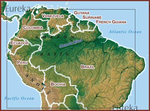 Amazon Basin C Eureka Cartography Berkeley Ca Amazon Rainforest