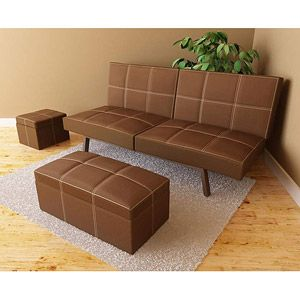 delaney futon sofa bed 3 piece living room set brown delaney futon sofa bed 3 piece living room set brown   for the      rh   pinterest