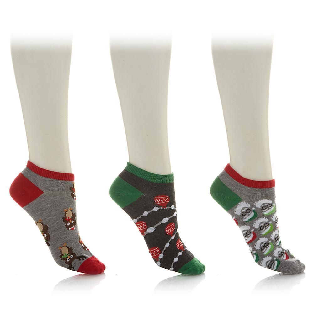 Curations Caravan No Show Holiday 3-pack Socks