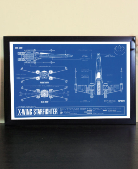 Star wars gifts for him x wing fighter blueprint artwork print by star wars gifts for him x wing fighter blueprint artwork print by atomic inspired malvernweather Image collections