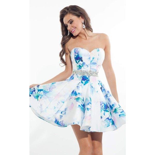 Rachel Allan 4103 Homecoming Dress Mini Strapless Sleeveless ($358 ...