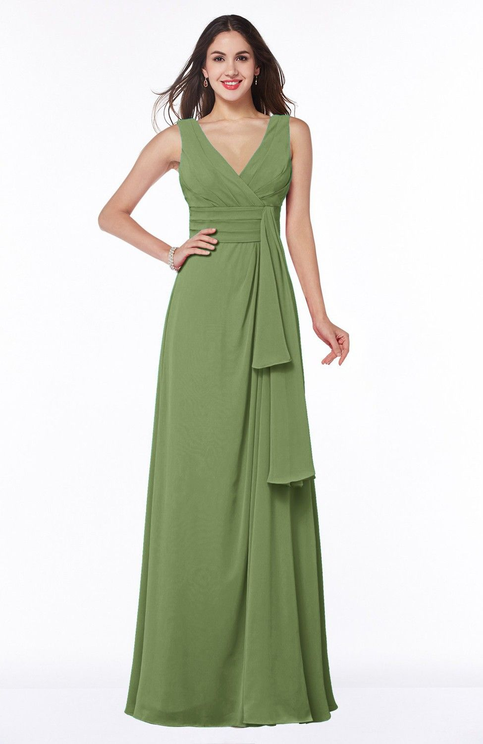 Moss green bridesmaid dress vintage sleeveless zipper floor moss green bridesmaid dress vintage sleeveless zipper floor length sash plus size champagne ombrellifo Choice Image