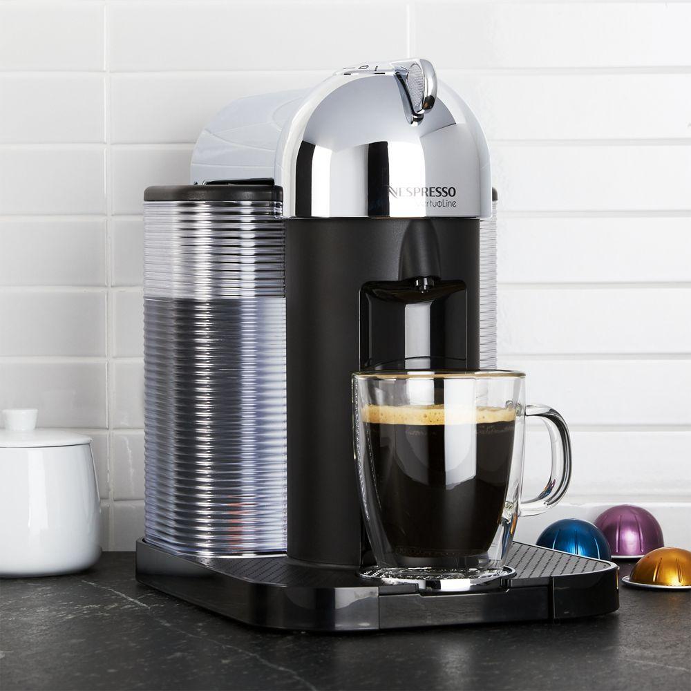 Nespresso By Breville Vertuoline Chrome Coffee Espresso Maker Reviews Crate And Barrel Home Coffee Stations Diy Coffee Station Coffee Station