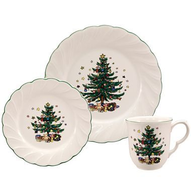 Nikko® Happy Holiday Dinnerware Collection - JCPenney  sc 1 st  Pinterest : jcpenney christmas dinnerware - pezcame.com