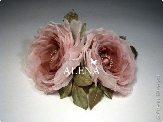 Шьем Цветы из ткани своими руками Цветы из шелка Ална Абрамова - шитье