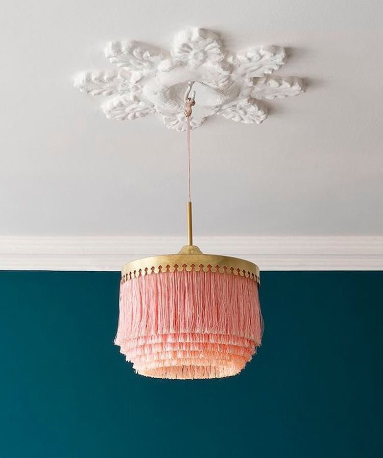 Retro fringe lamp chandelier interior design home decor