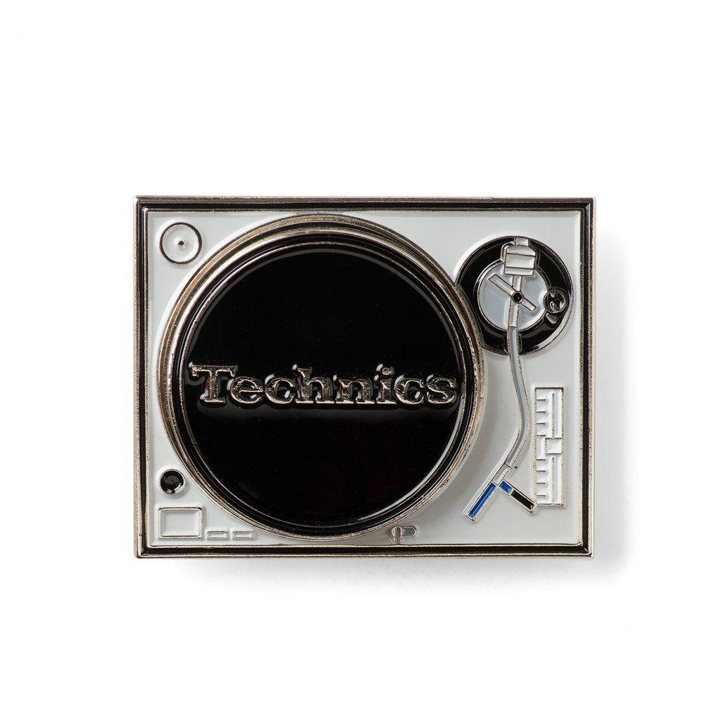 Technics 1200 Lapel Pin(black & silver edition)