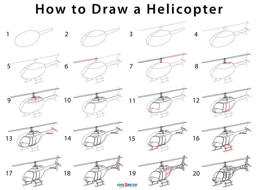How to Draw a Helicopter   Drawings, Step by step drawing ...