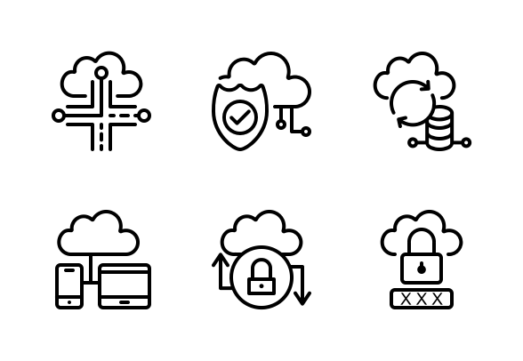 Cloud Computing And Network Icons By Dr Studio Network Icon Cloud Computing Clouds