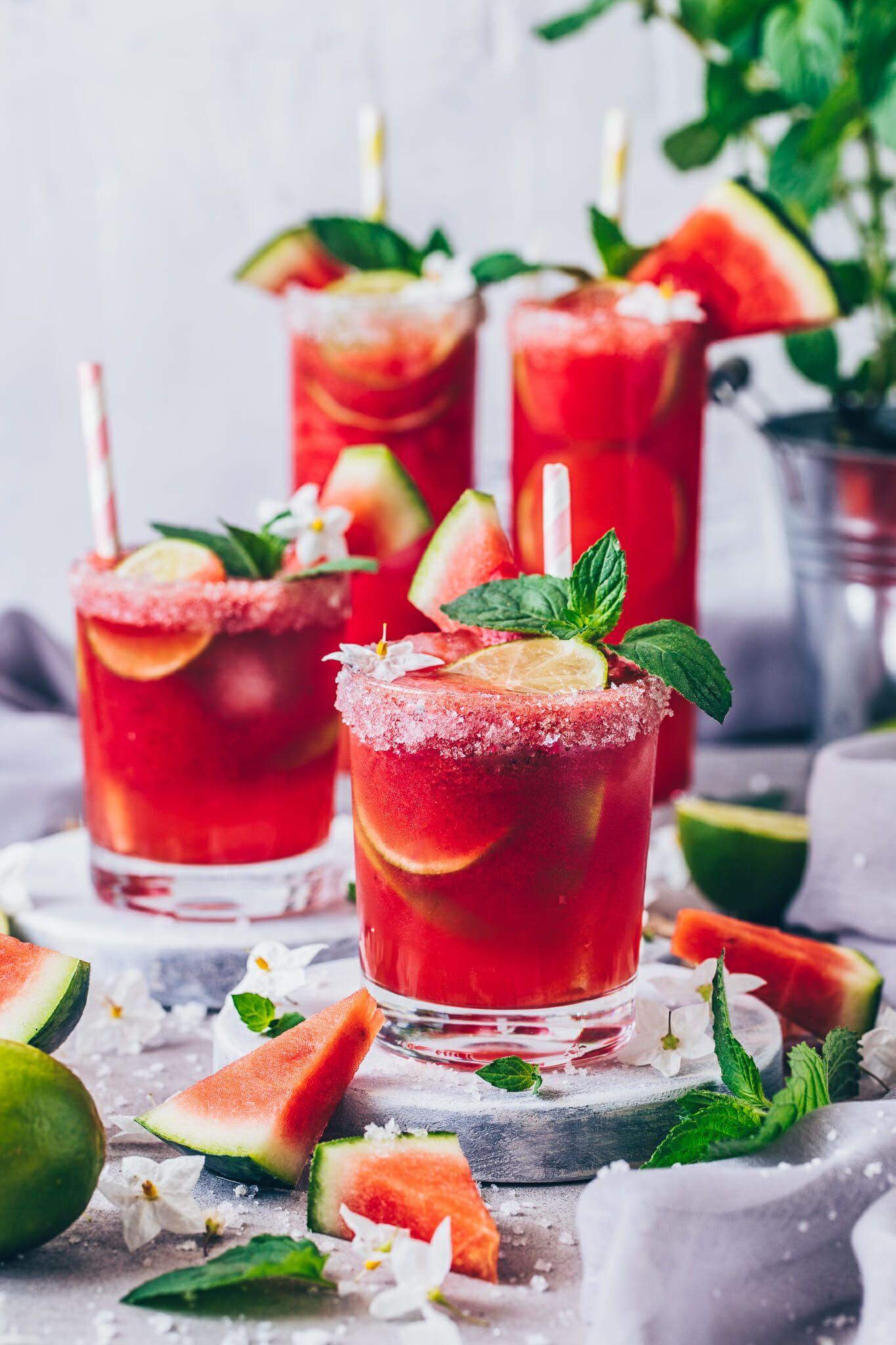 Watermelon Margarita Frozen Slush Cocktail Wassermelone Cocktail Coctail Rezepte Rezepte