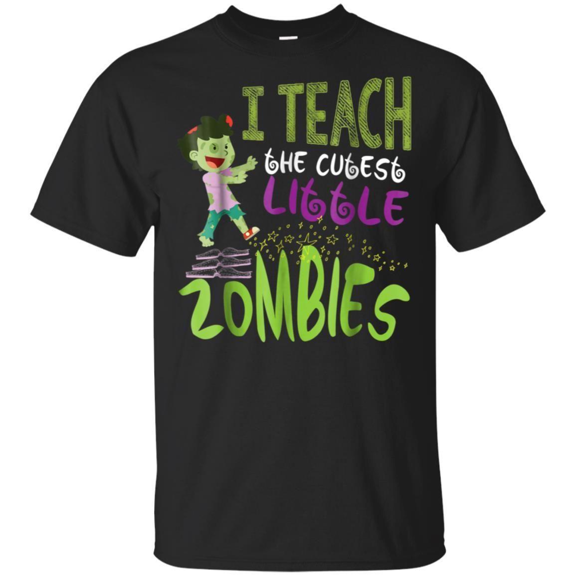 Teacher Halloween Zombie Brains T-shirt Funny Teaching Gift
