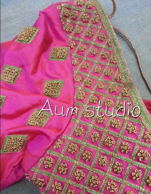 Simple blouse designs south indian neck dress saree also latest checks pattern work for clothing rh pinterest