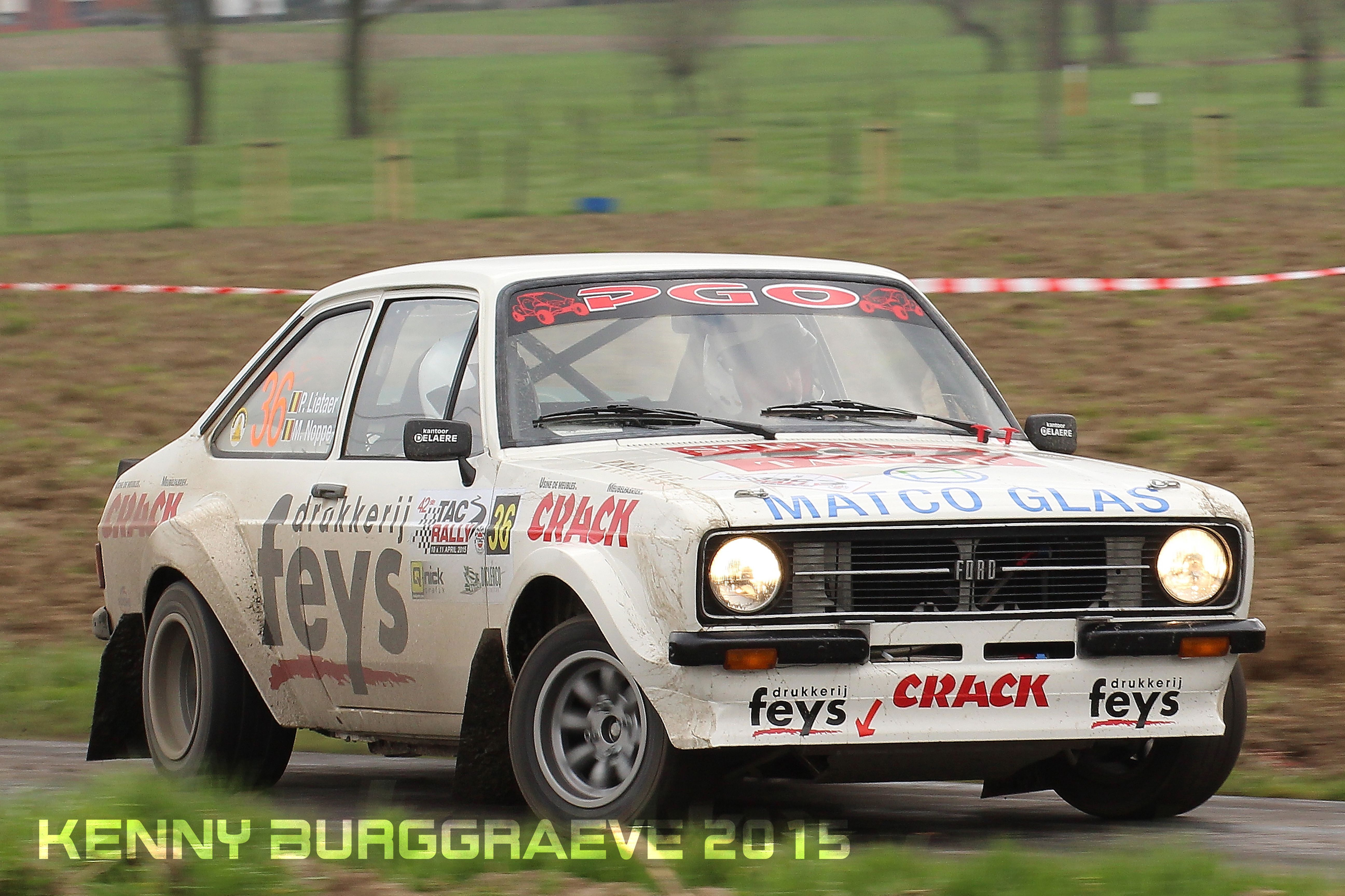 Paul Lietaer Ford Escort Mkii Tac Rally 2015