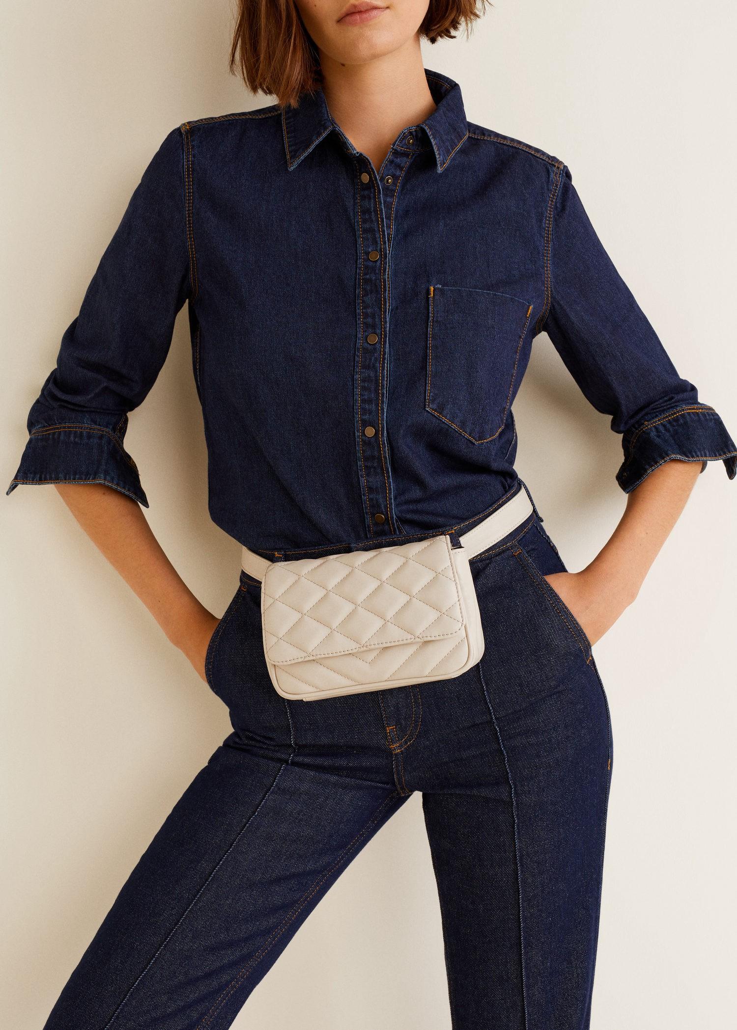 c902ef364c0 Mango Quilted Belt Bag - Ecru One Size in 2019 | Belt bag | Bags ...