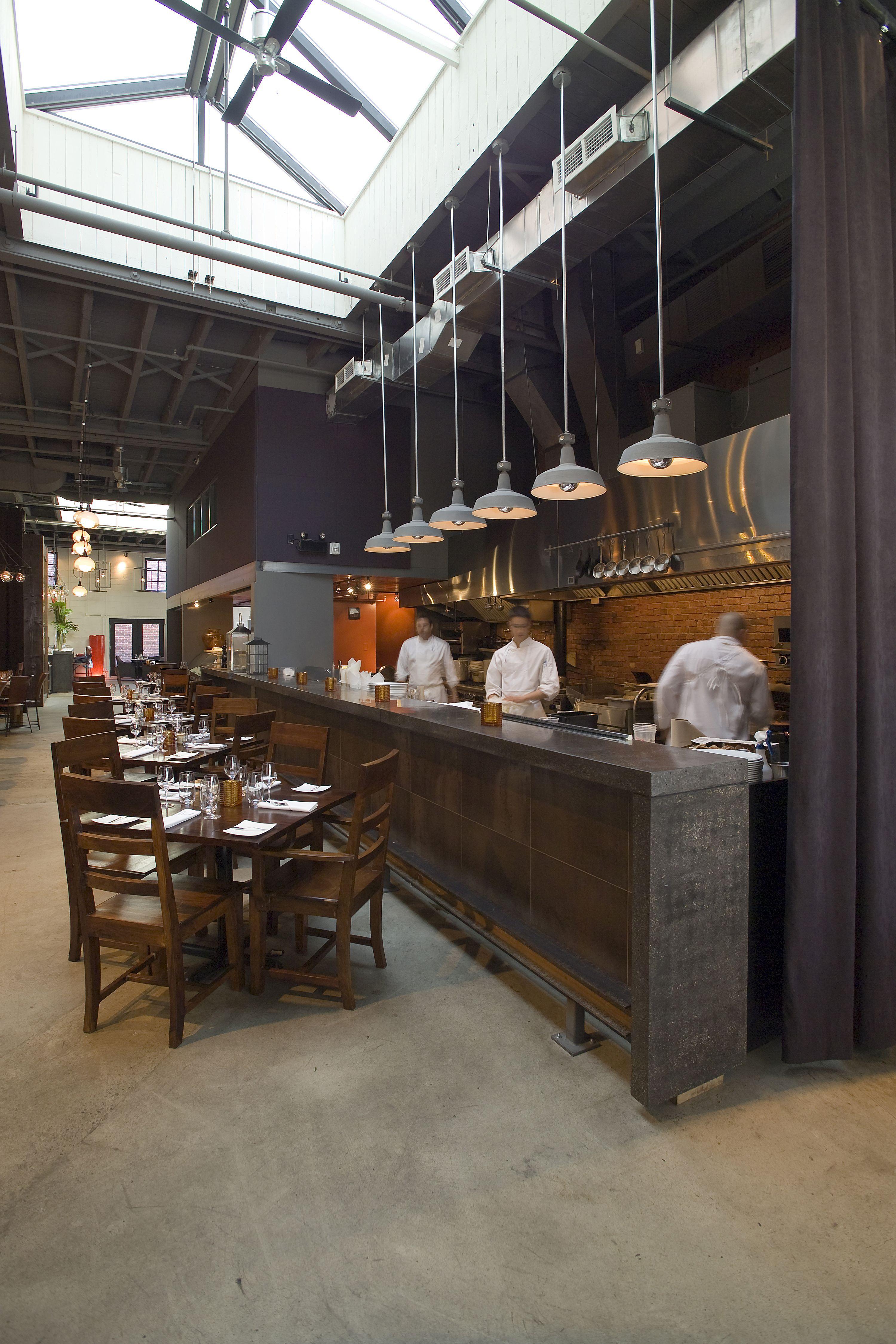 open commercial kitchen design