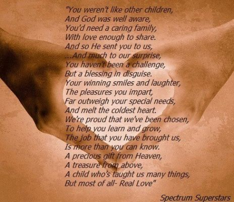Special Needs Child Quotes 4 Poems For Special People