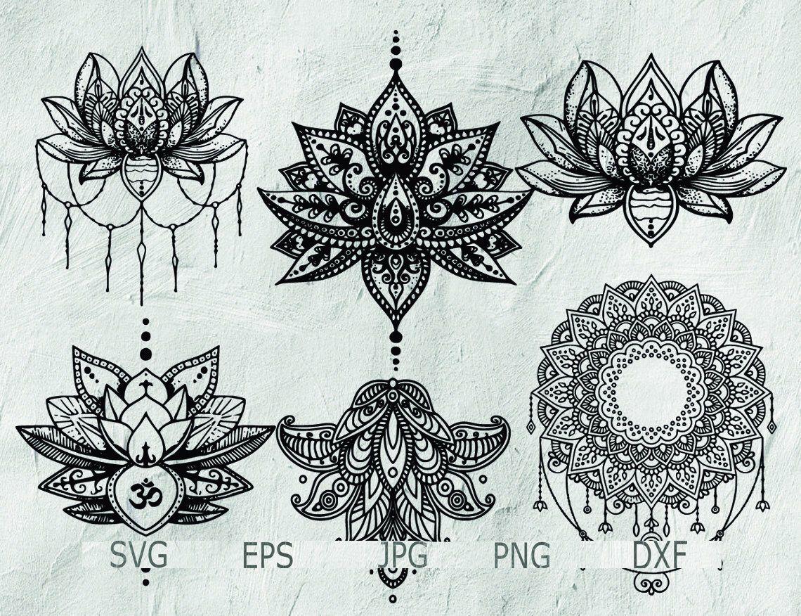 Set Of Mandala Mandala Drawing Mandala Svg Intricate Etsy Lotus Mandala Tattoo Mandala Tattoo Design Mandala Drawing