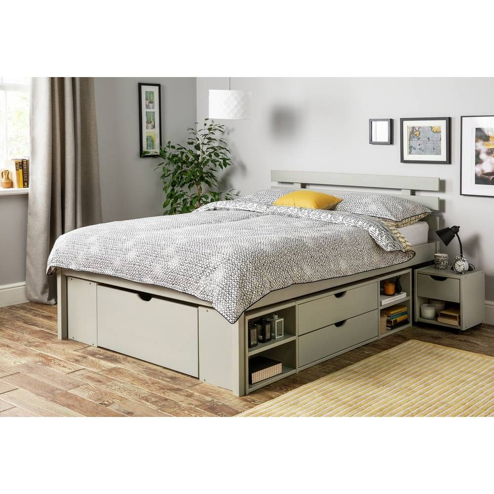 Buy Argos Home Ultimate Storage Grey Double Bed Frame Bed Frames