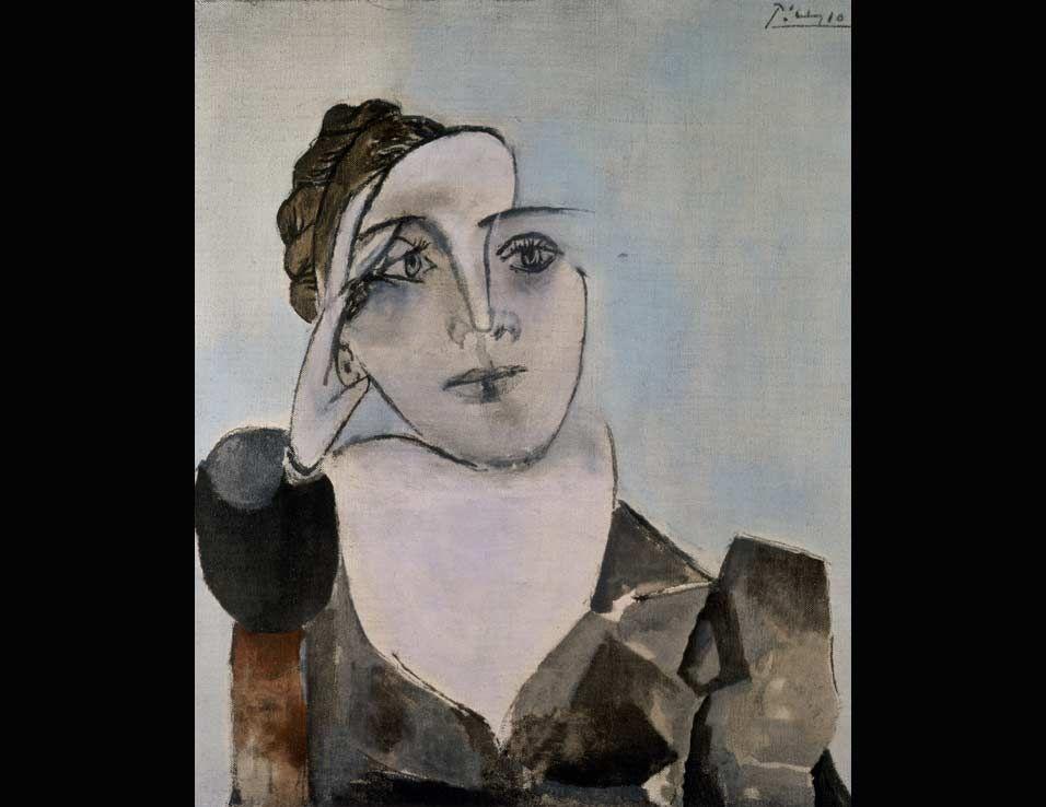 Pablo Picasso, Portrait of Dora Maar (Theodora Markovich), 1936. Mourlot lithograph, ed. 214/350. Santa Barbara Museum of Art, Anonymous Donor.
