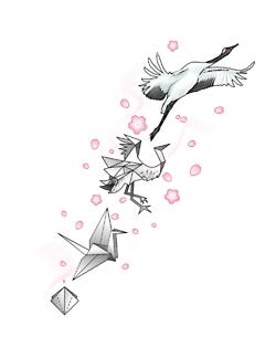 Paper Crane Tattoo Tumblr I Dont Think Id Do A But Still Cute Idea