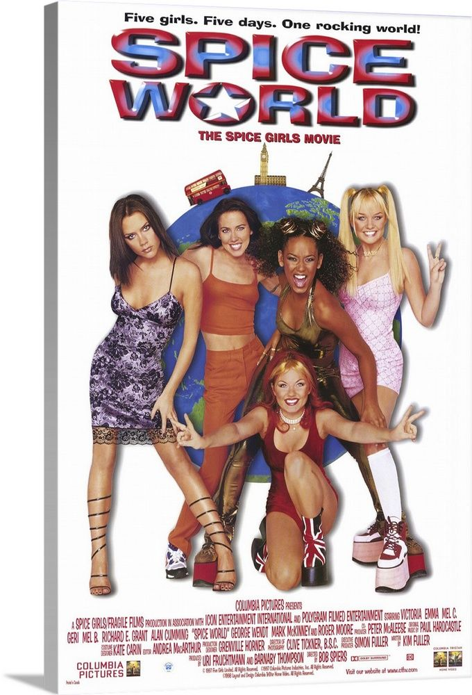 Large Solid-Faced Canvas Print Wall Art Print entitled Spice World: The Movie (1997)