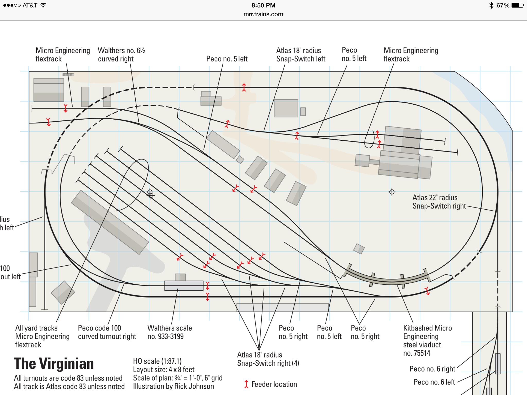 The Original Virginian Railroad Plan As Found In Model