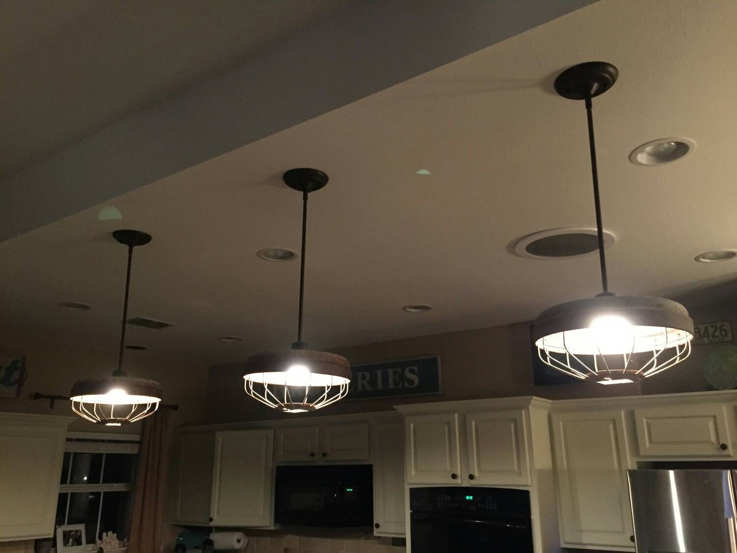 Four options available chicken feeder pendant lights ready to chicken feeder pendant light repurposed industrial light fixture entire light and cage 15 cord arubaitofo Images