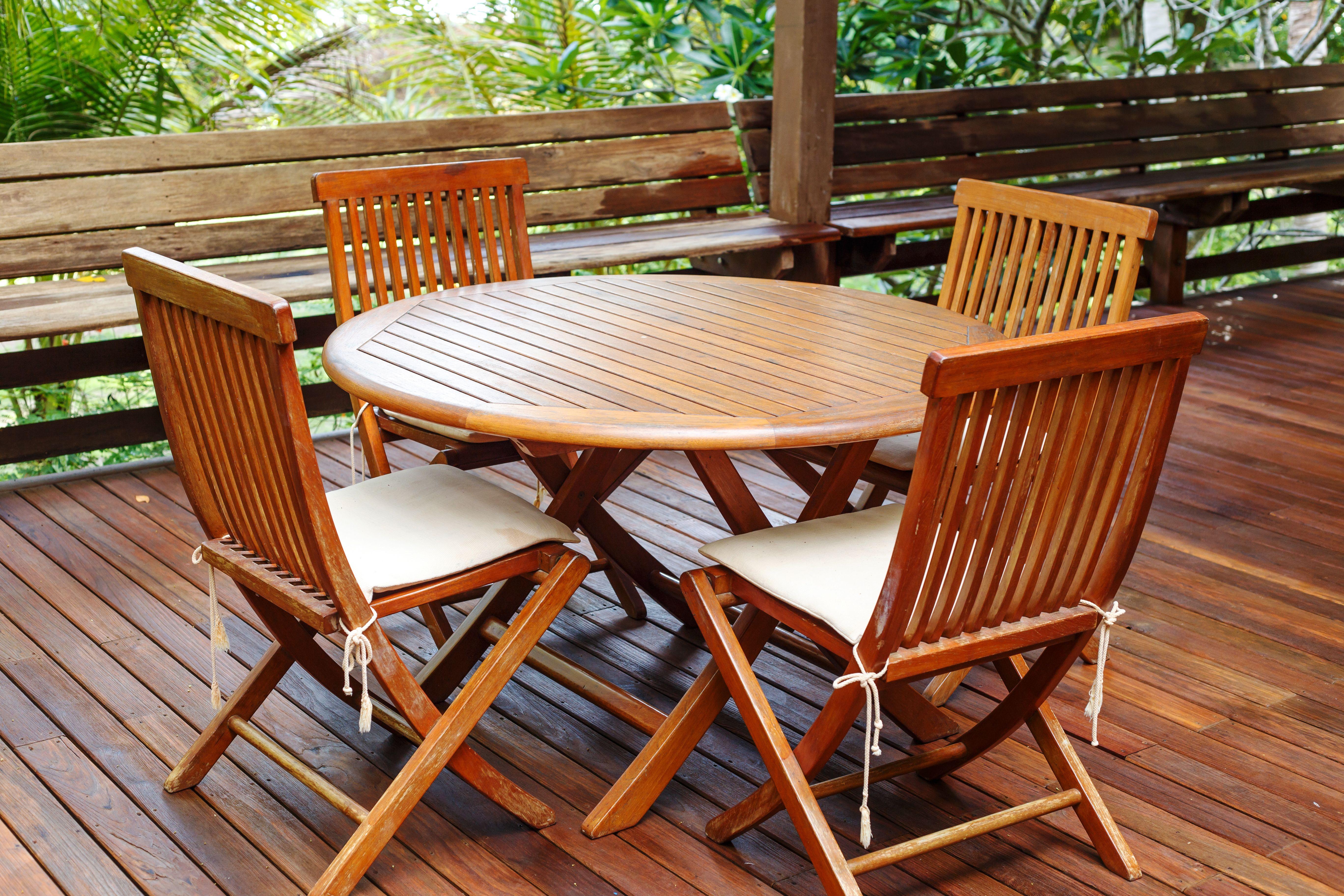 How To Stain Teak Furniture Hunker Teak Patio Furniture Teak Wood Furniture Teak Furniture