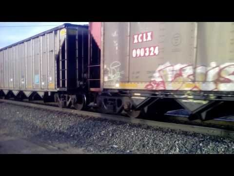 BNSF is carrying a empty coal train and the city rail train