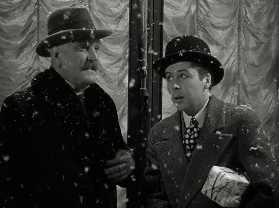 """Frank Morgan and William Tracy in the Holiday Classic, """"The Shop Around the  Corner"""". 