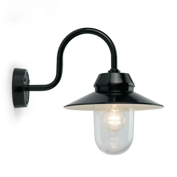 Stijlvol vormgegeven wandlamp met een landelijke uitstraling.  Deze wandlamp geeft sfeer aan ieder huis. De buitenlamp beschikt over een E27 fitting waardoor deze ook geschikt is voor het gebruik van LED verlichting.
