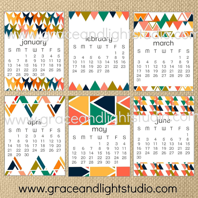 Printable Digital Calendar 2013 for Project Life.
