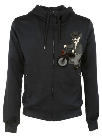 DOLCE & GABBANA Dolce & Gabbana Cowboy Patch Hoodie. #dolcegabbana #cloth #fleeces-tracksuits