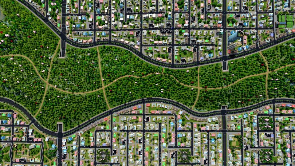 1 Greenbelt Citiesskylines City Layout City Skylines Game Sustainable City