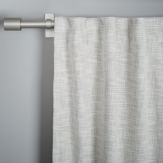 Cotton Textured Weave Curtain Amp Blackout Lining Ivory