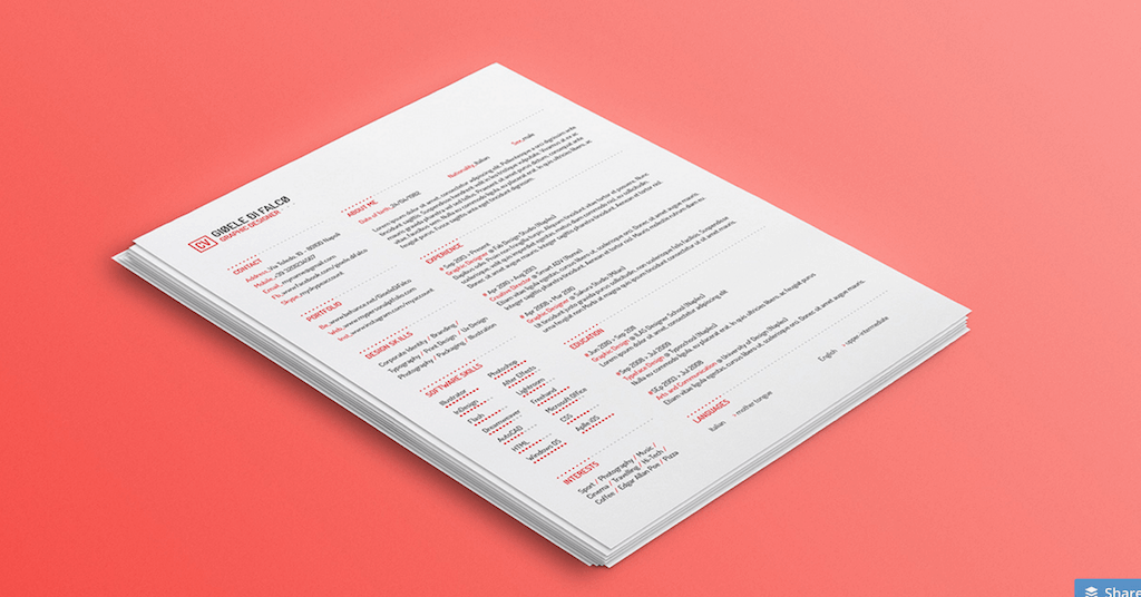 Best Free Resume Templates in PSD and AI in 2019 Resume