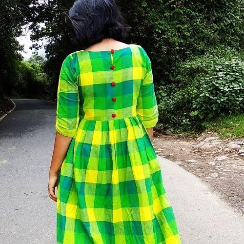 Green Yellow Gingham Dress In 2019 Gingham Dress