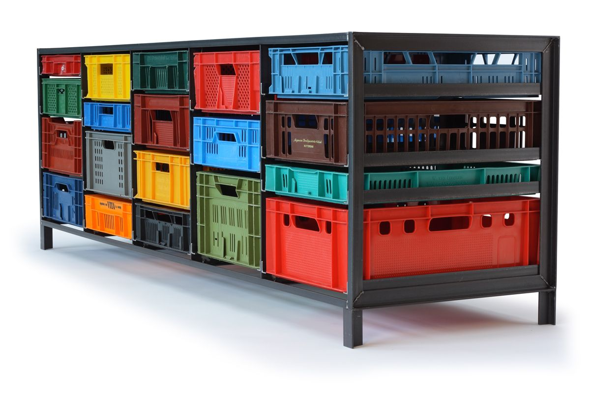 Krattenkast crates cabinet by mark van der gronden made from