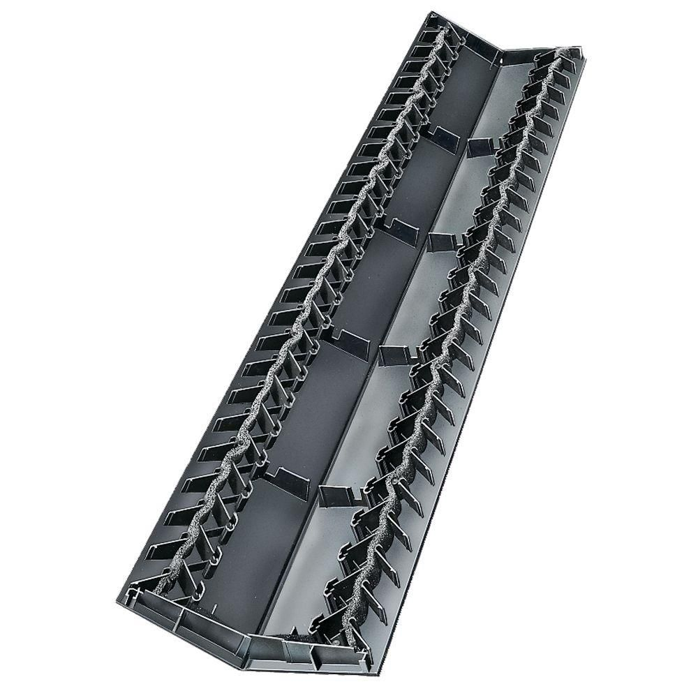 Builders Edge 11 In X 48 In Ridge Vent Plus 10 Pieces Box 151000000002 Ridge Vent Builders Edge Vented