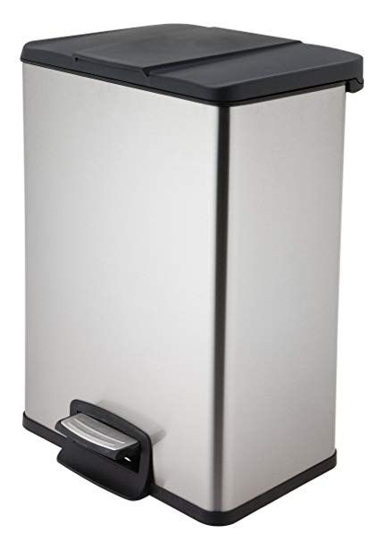 Home Zone Trash Bin 40l Stainless Steel Rectangular Pedal Review