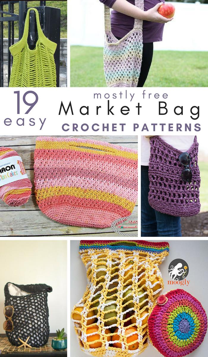 19 Easy Crochet Market Bag Patterns Beachy Crochet Patterns