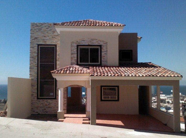 Fachadas de casas coloniales modernas pinteres for Tipos pisos para interiores casas
