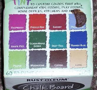 Rustoleum Tintable Chalkboard Paint Color Options