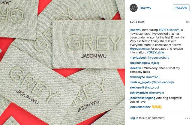 Jason Wu Launches Sibling Collection Grey Jason Wu