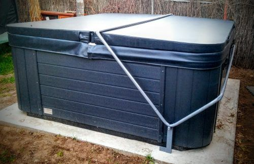 Plans on how to make a DIY Spa Cover Lifter for your hot tub or - jacuzzi exterior