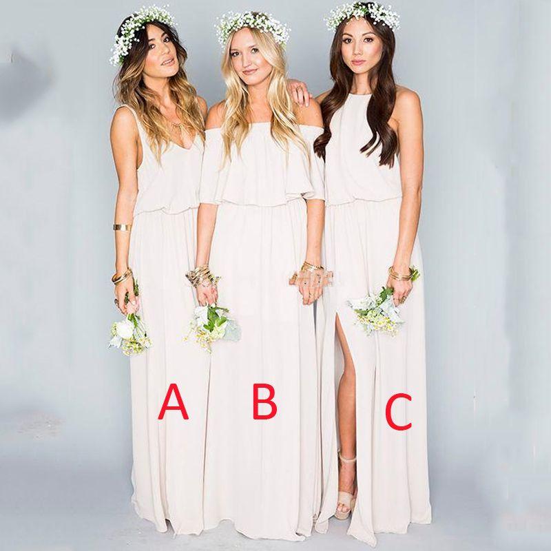 Find More Bridesmaid Dresses Information about Boho Beige Long ...