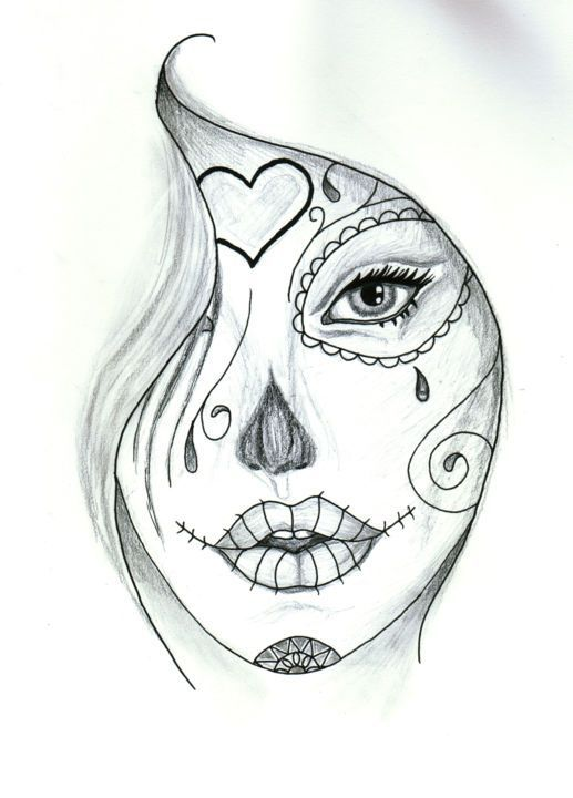 Pin On Sugar Skull Artwork