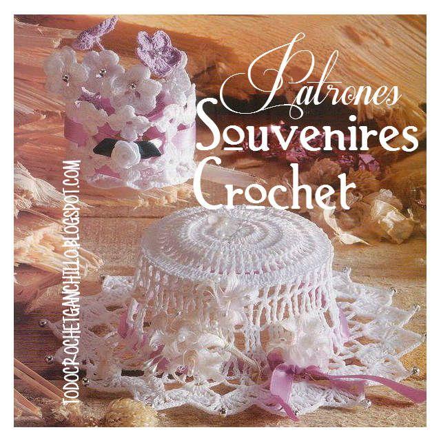 Patrones de souvenires capelina y centro floral para tejer crochet ...