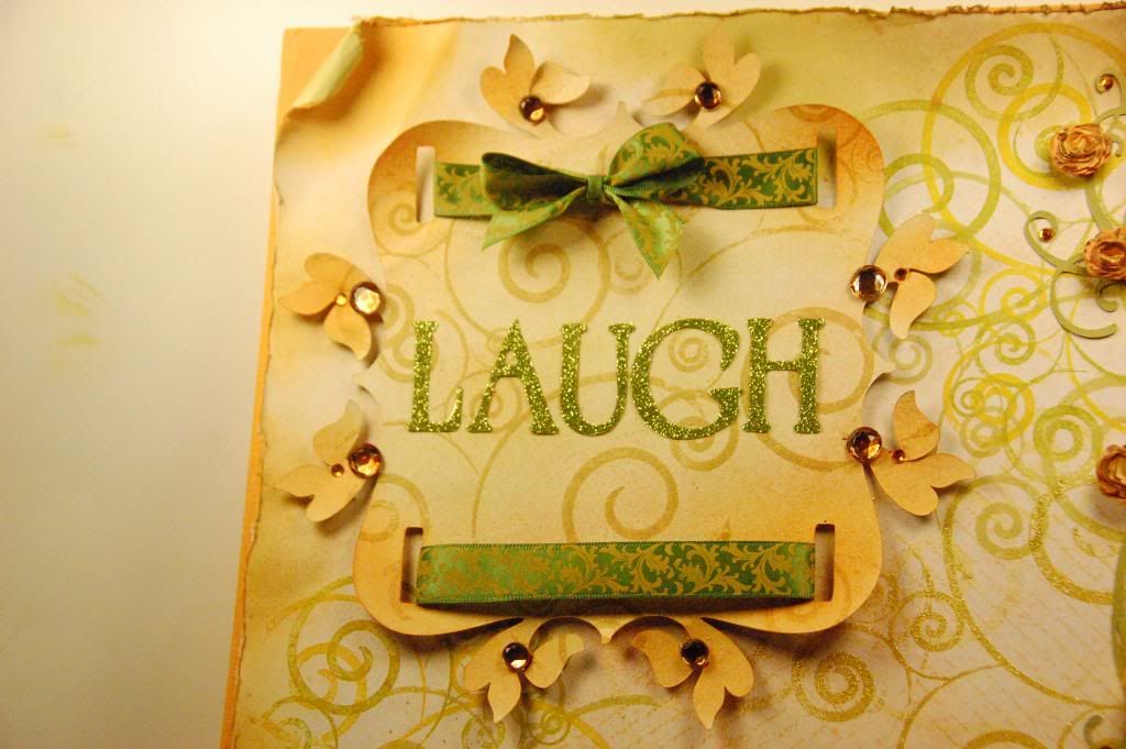 217 Creations: Laugh Motivational Layout,Storybook Topnote