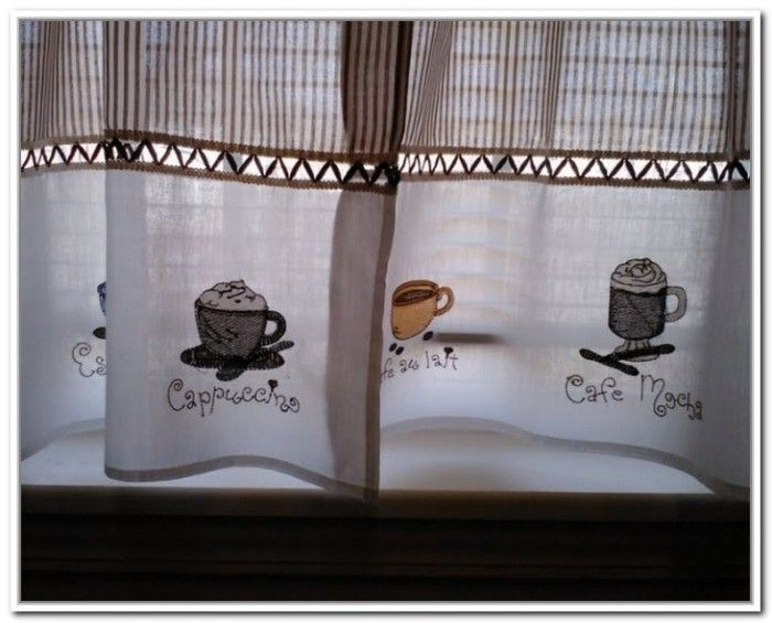 Coffee Cup Curtains For Kitchendoors And Windows Gallery Kitchen Decor Themes Coffee Coffee Theme Kitchen Kitchen Decor Themes